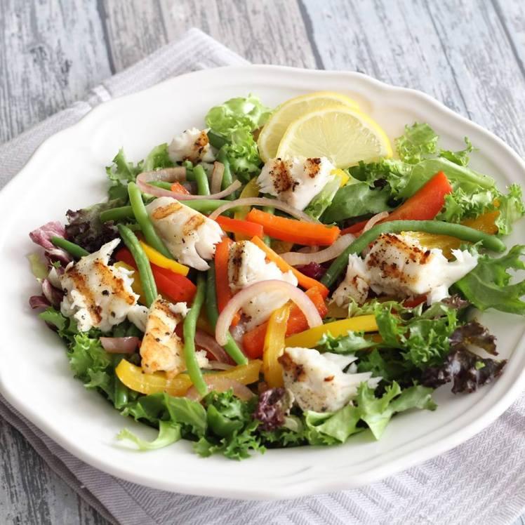 salade-met-tilapiafilet-haricot-verts-en-paprika